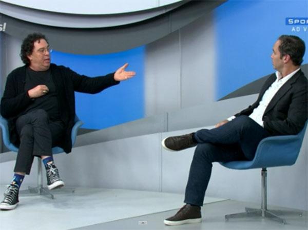 """Comentaristas discutiram durante o """"Bem, Amigos"""", do SporTV. Foto: Reprodução"""