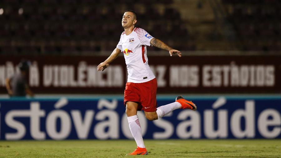 Jobson comemora gol contra a Ferroviária. Foto: Divulgação/Red Bull Brasil