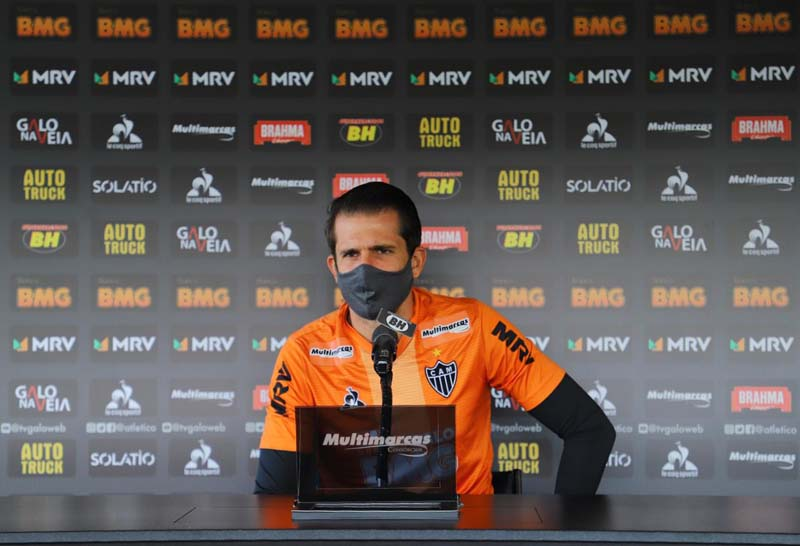 Goleiro do Galo respondeu perguntas sobre o atual momento. Foto: Divulgação/CAM