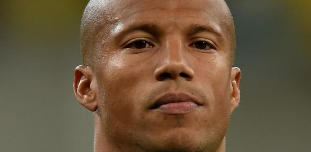 Volante Carlos Sanchez, pivô da punição ao Santos na Libertadores. Foto: Buda Mendes/Getty Images/Via UOL