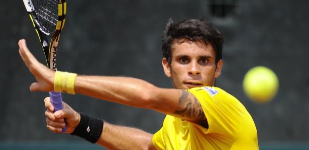 Brasileiro é derrotado por Alessandro Giannessi, que agora joga contra o compatriota Fabio Fognini