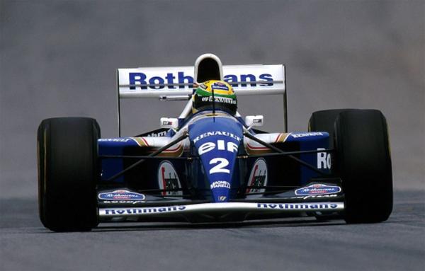 Senna em sua estreia pela Williams. Foto: Divulgação