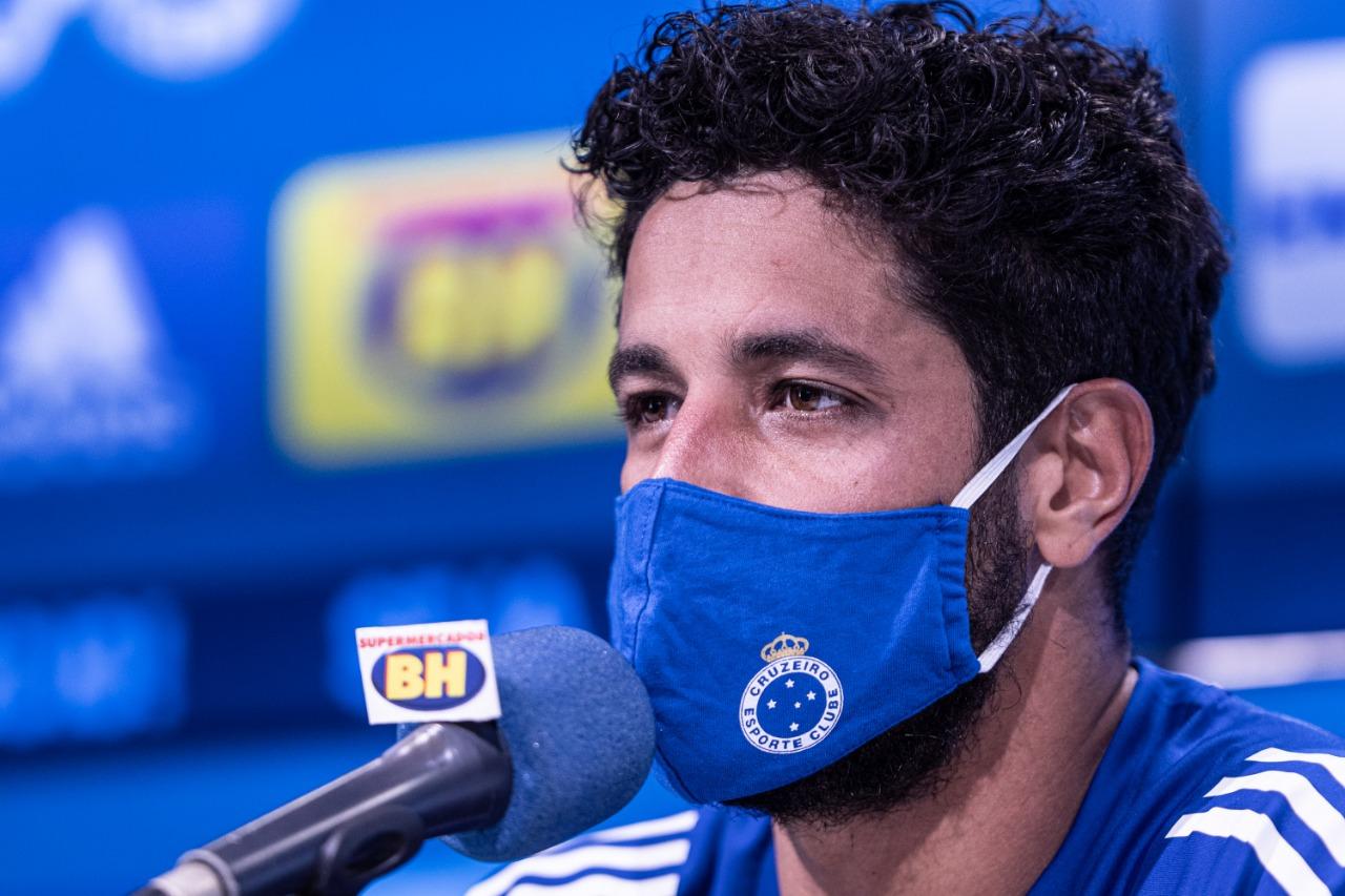 Jogador ficou afastado por diagnóstico para o novo coronavírus. Foto: Gustavo Aleixo / Cruzeiro