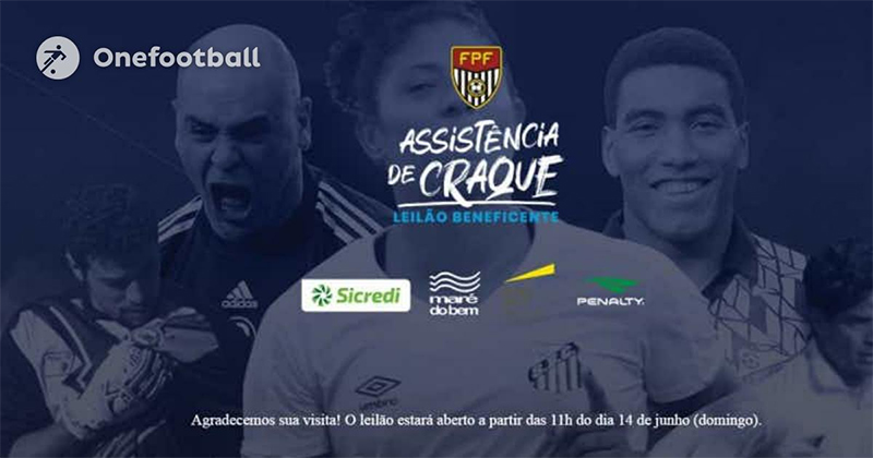 Leilão beneficente com grandes nomes do futebol começa no domingo