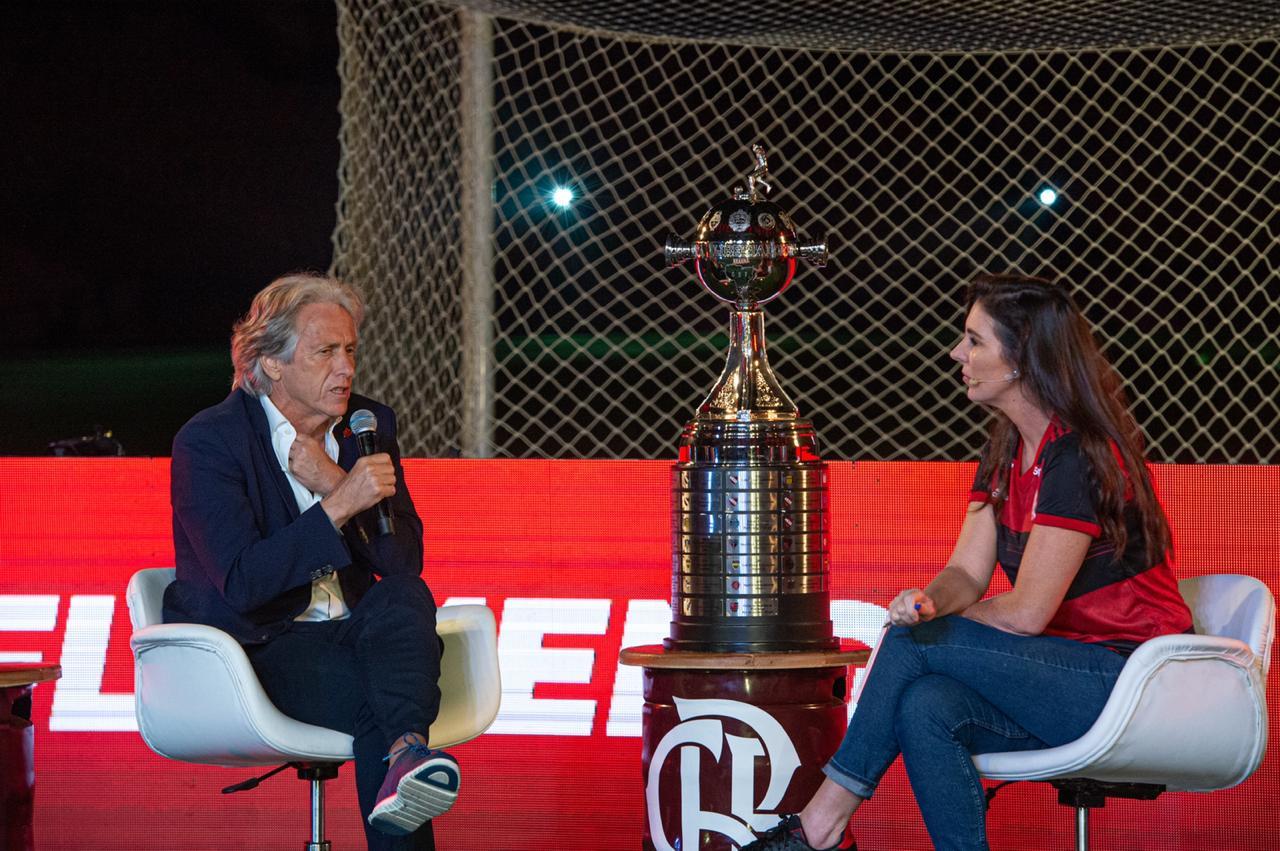 Treinador participou da 'Flamengo Brahma Live'. Foto: Marcelo Cortes / Flamengo
