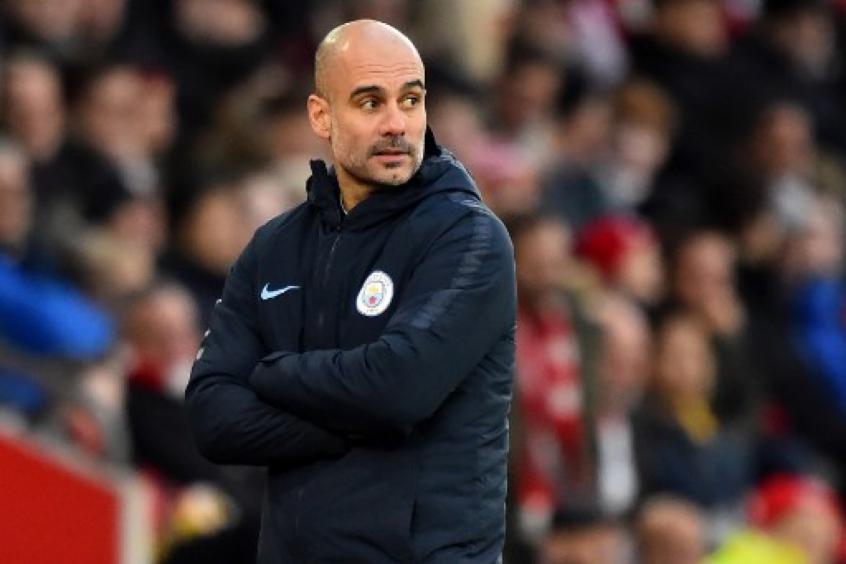 Guardiola, técnico do Manchester City. Foto: Divulgação