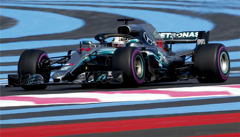 Inglês confirmou o favoritismo no circuito de Paul Ricard. Foto: Mercedes-AMGF1