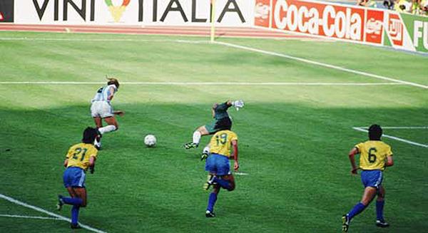 Seleção de Lazaroni dominou a partida mas perdeu muitos gols. Maradona desequilibrou no final. Foto: Divulgação