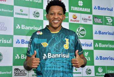 Volante Gustavo Bochecha foi contratado junto ao Botafogo. Foto: Divulgação / Juventude
