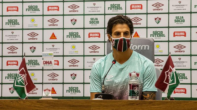Entrevista aconteceu ao vivo pela FluTV. Foto: Lucas Merçon / Fluminense F.C