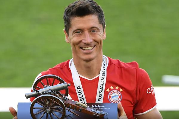 O polonês se sagrou artilheiro do Campeonato Alemão. (Foto: Bayern de Munique)