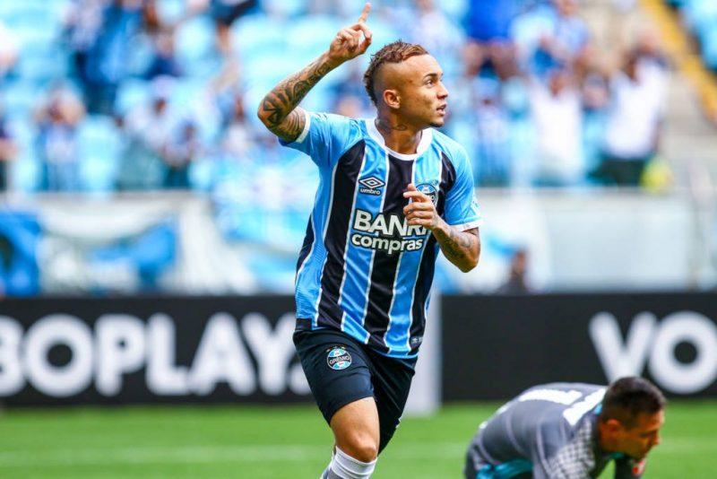 Everton Cebolinha, atacante do Grêmio. Foto: Lucas Uebel/Grêmio