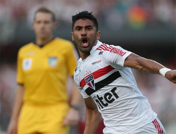 Santiago Tréllez, atacante que pertence ao São Paulo. Foto: Rubens Chiri/São Paulo Futebol Clube