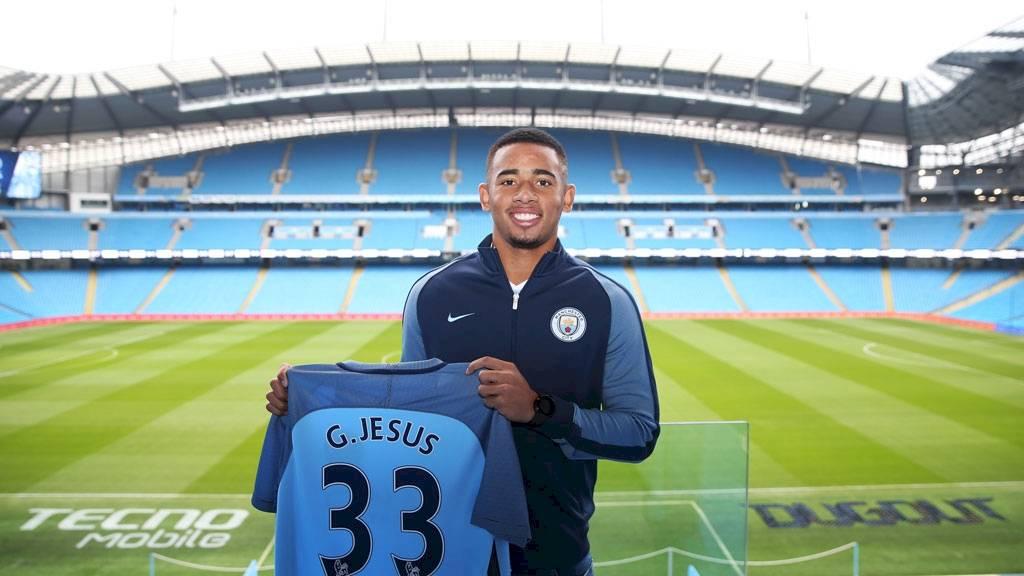 Gabriel Jesus, atacante do Manchester City. Foto: Divulgação