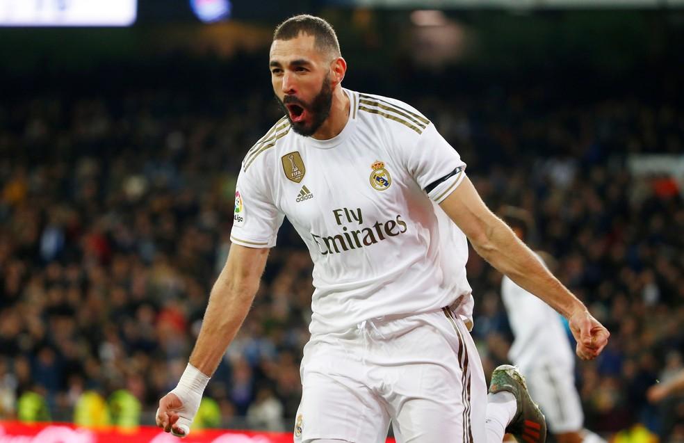 Karim Benzema, atacante do Real Madrid. Foto: Divulgação