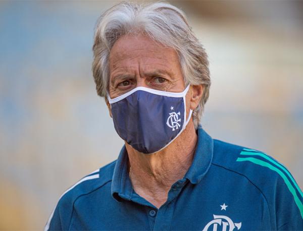 Jorge Jesus foi contratado pelo Flamengo na metade do ano passado. Foto: Alexandre Vidal/Flamengo