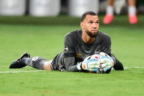 Everson, goleiro do Santos. Foto: Ivan Storti/Santos FC