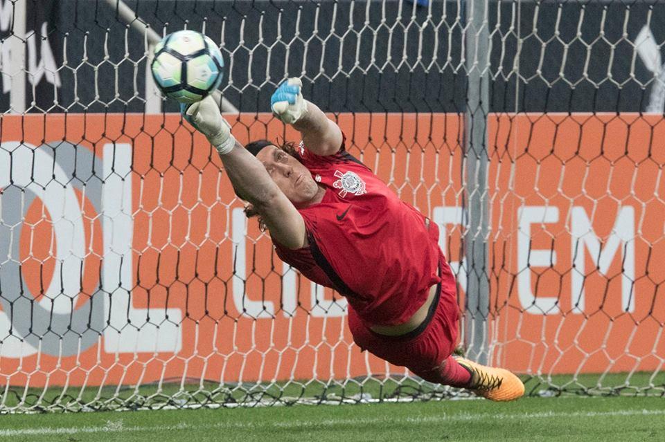 Cássio foi o nome do jogo. Foto: Daniel Augusto Jr./Ag. Corinthians