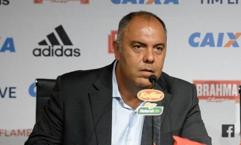 Marcos Braz, vice-presidente de futebol do Flamengo. Foto: Alexandre Vidal/Flamengo