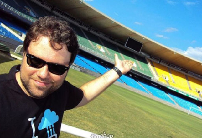Jornalista estava internado desde o último sábado. Foto: arquivo pessoal de Rodrigo Rodrigues