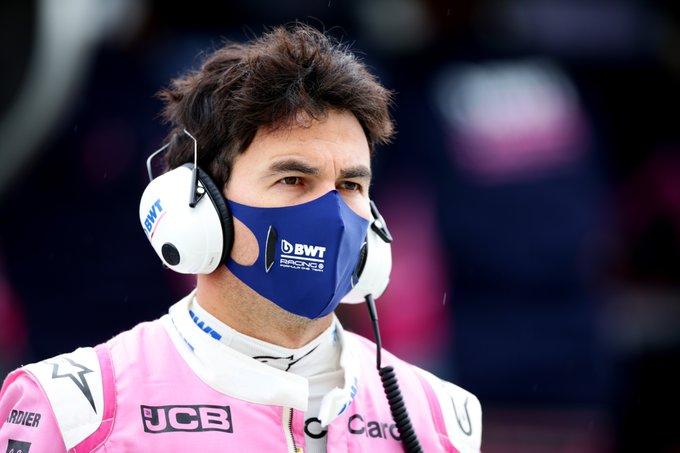 Piloto mexicano agora cumpre isolamento. Foto: Racing Point / Divulgação