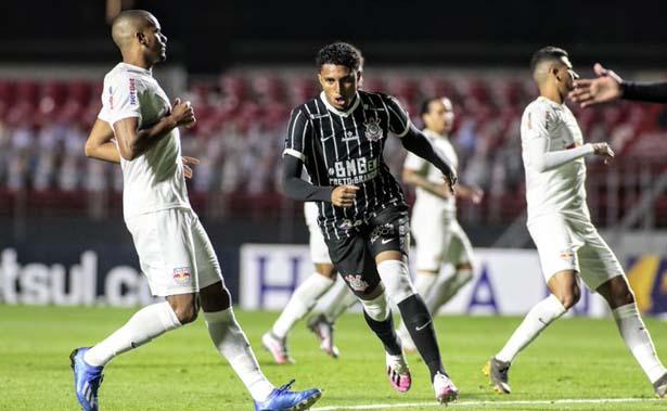 Primeiro gol aconteceu antes de um minuto de bola rolando. Foto: Rodrigo Coca / Agência Corinthians