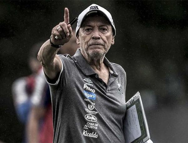 Jesualdo Ferreira, técnico do Santos. Foto: Ivan Storti/Santos FC