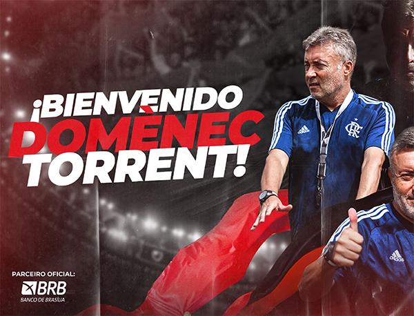 Domènec Torrent, novo técnico do Flamengo. Foto: Site oficial