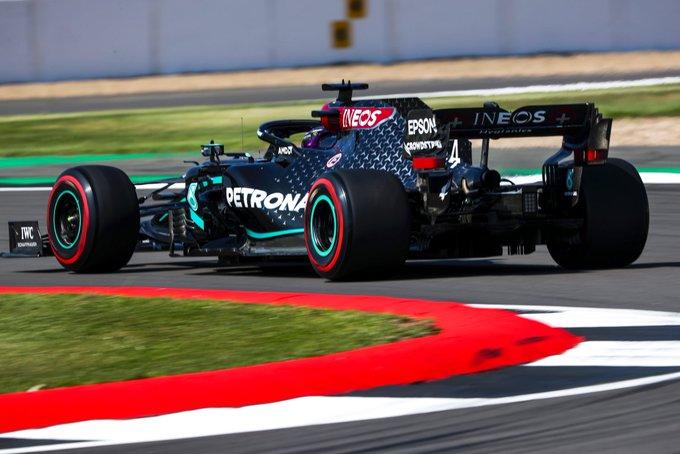 Inglês impôs grande vantagem para os adversários em Silverstone. Foto: Mercedes-AMG F1