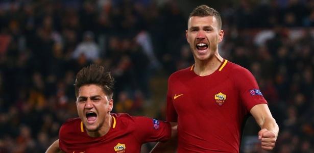 Dzeko fez o gol da classificação da Roma. Foto:Alessandro Bianchi/Reuters/Via UOL