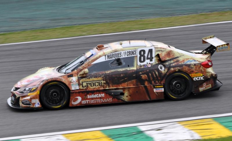 O carro #84 da dupla terminou na 22º colocação na Corrida de Duplas em Interlagos. Foto: Marcos Júnior Micheletti/Portal TT