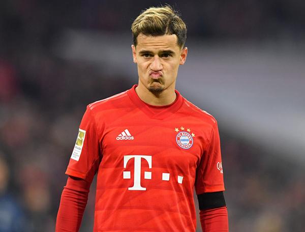 Coutinho com a camisa do Bayern de Munique. Foto: Divulgação