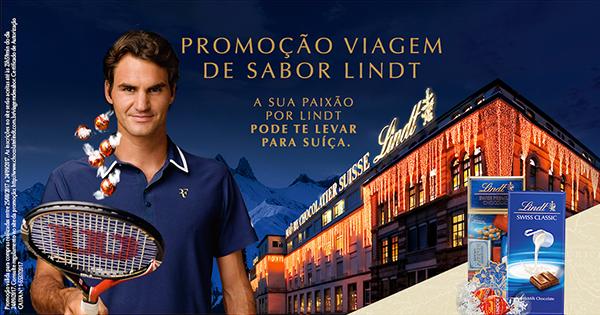 Promoção proporcionará aos consumidores uma experiência na chocolateria sede da marca,  além da oportunidade de conhecer o tenista embaixador global da Lindt