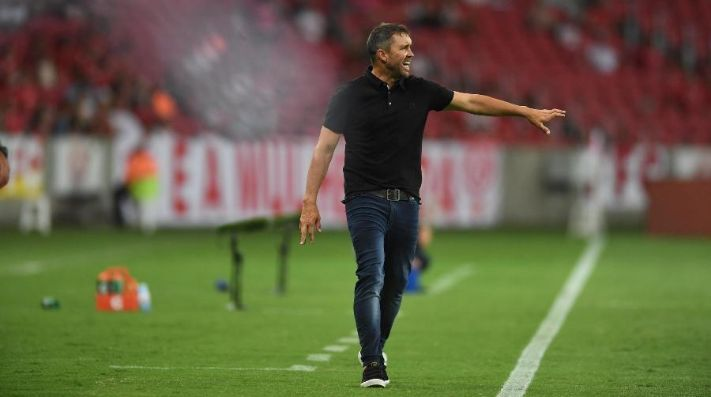 Treinador argentino comandou o Colorado diante do Coxa. Foto: Ricardo Duarte/Divulgação/Inter