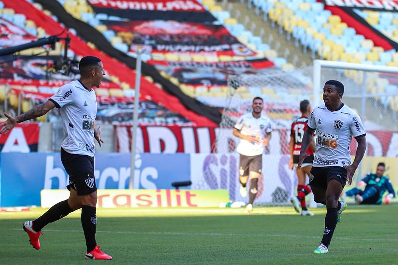Arana comemora o gol do Atlético-MG diante do Flamengo. Foto: Bruno Cantini/Atlético-MG