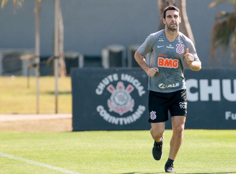 Argentino trabalhou em separado no CT alvinegro. Foto: Rodrigo Coca/Agência Corinthians
