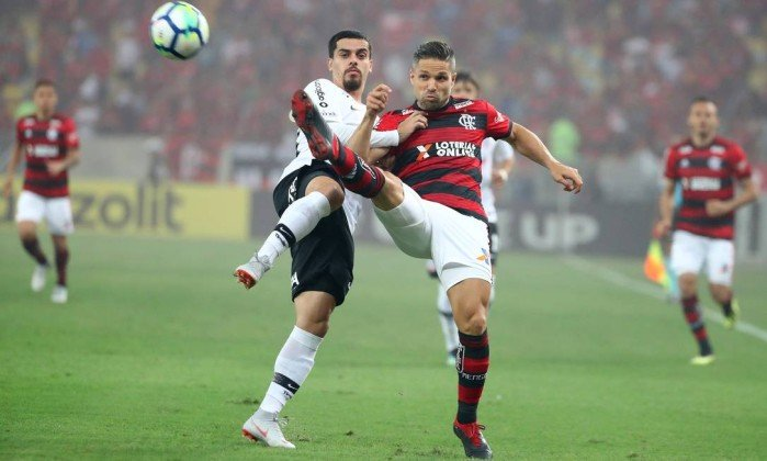 Flamengo empatou com o Corinthians pela Copa do Brasil. Foto: Pilar Olivares/Reuters