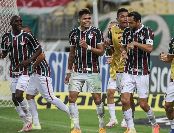 Nenê marcou os dois gols da vitória do Flu. Foto: Divulgação/Fluminense