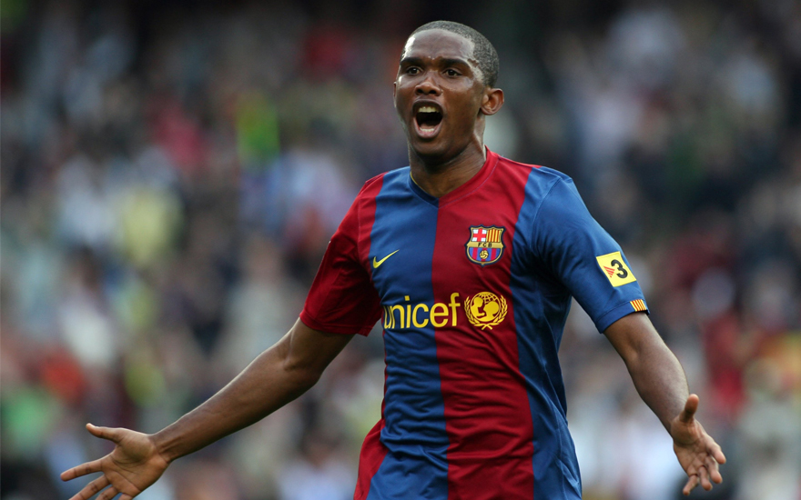 Samuel Eto´o, ex-atacante do Barça. Foto: Divulgação