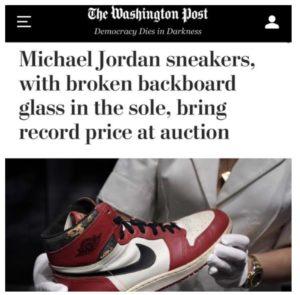 Sapato arrebatado num leilão na Itália tem um pedaço de vidro da encravado no solado
