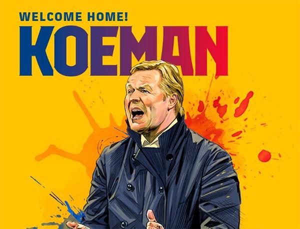 Como zagueiro, Koeman defendeu o Barcelona entre 1989 e 1995. Foto: Divulgação