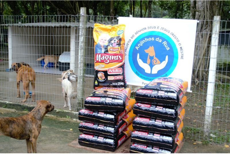 Empresa levou alimentos no santuário situado em Peruíbe. Foto: Divulgação
