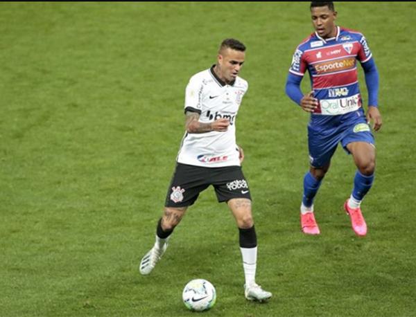 Luan, autor do único gol do Corinthians contra o Fortaleza. Foto: Divulgação/Corinthians