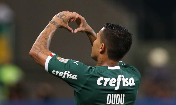 Camisa sete brilhou no jogo contra o Junior. Foto: César Greco/Palmeiras