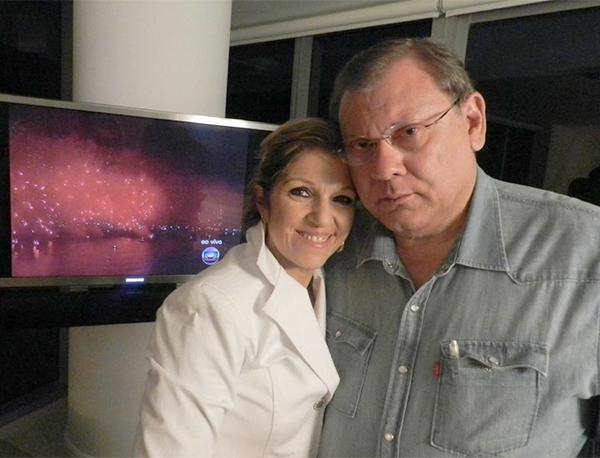 O casal Lenice e Milton Neves