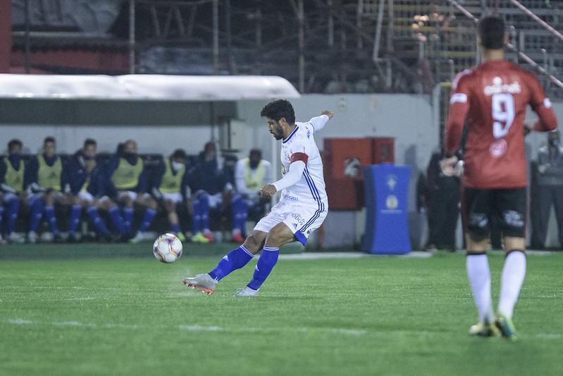 Equipe celeste perdeu para o Brasil de Pelotas. Foto: Gustavo Aleixo/Cruzeiro