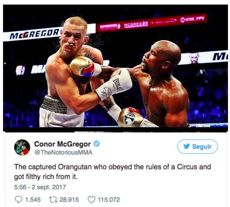 Em postagem no Twitter, lutador irlandês disse que apenas obedeceu as regras para enriquecer