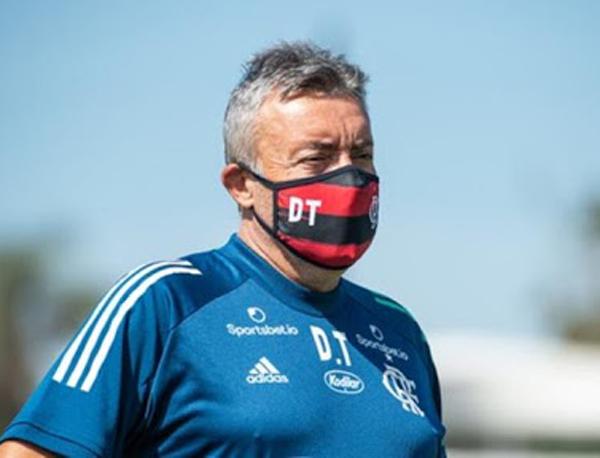 Domènec Torrent, técnico do Flamengo. Foto: Alexandre Vidal/Flamengo