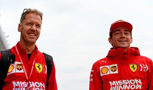 Vettel ganha quase 13 vezes mais que Leclerc. Foto: Scuderia Ferrari