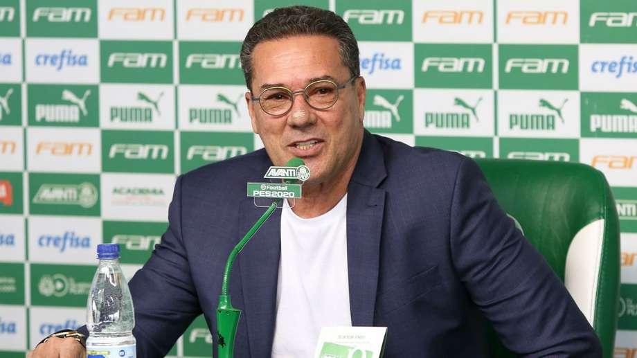 Vanderlei Luxemburgo, técnico do Palmeiras. Foto: Cesar Greco/Ag. Palmeiras